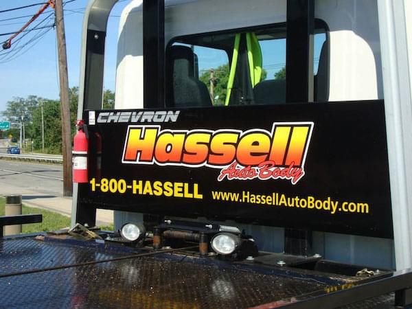 Hassell's tow truck